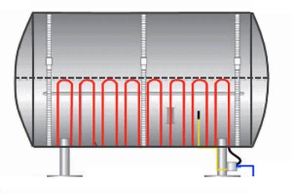 Поддержание технологической температуры трубопроводов и системы разогрева продукта в резервуарах